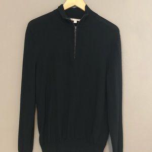 Vintage Gap Sweater Black Merino Wool Medium EUC
